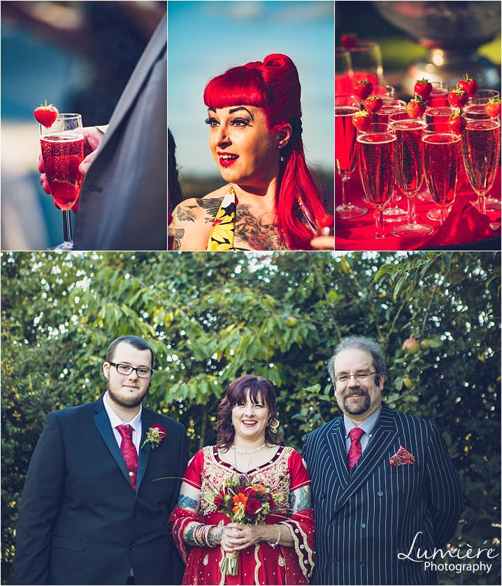 red themed pub wedding lumiere photography