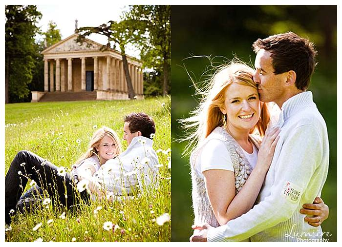 pre-wedding photography in Stowe gardens