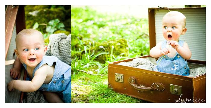 children photography in Leicestershire : baby in a case