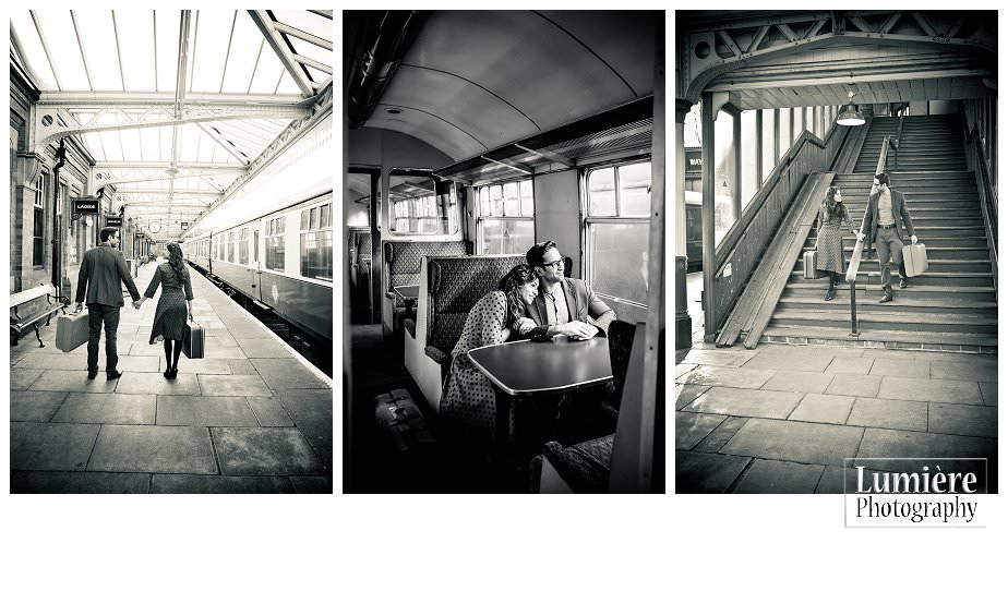 vintage photoshoot at Loughborough Great central station