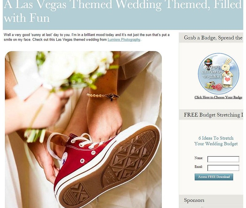 Vegas Wedding at Quorn Grange Hotel published on The Curious Wedding Blog