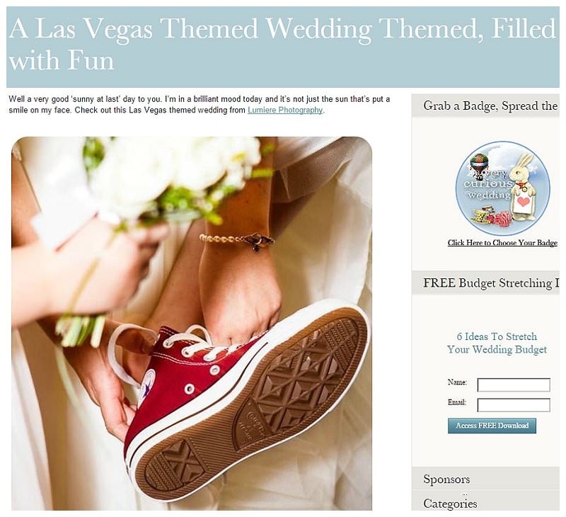 pulbihsed on a very curious wedding blog