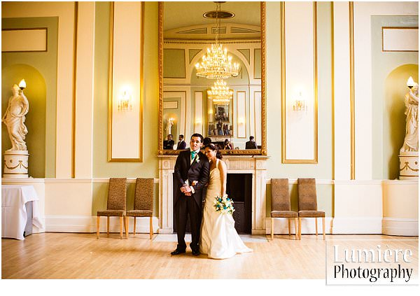 asian couple at wedding in Leicester venue