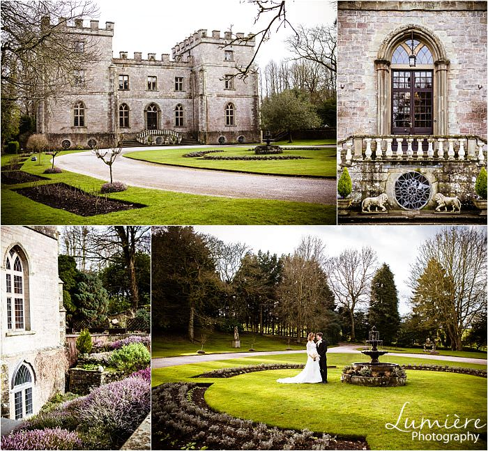 outside of clearwell castle gloucestershire wedding venue