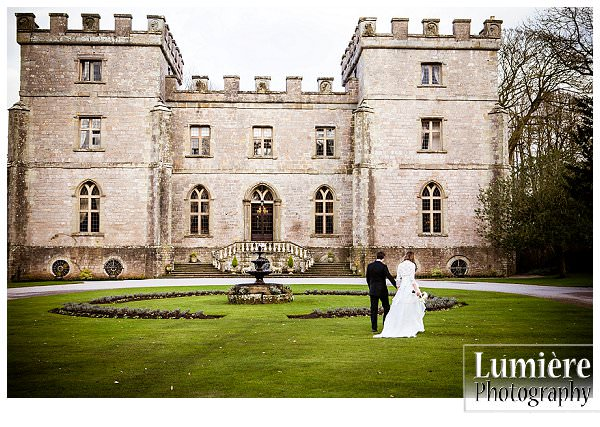 VClearwell castle the front of the house wedding venue in Gloucestershire