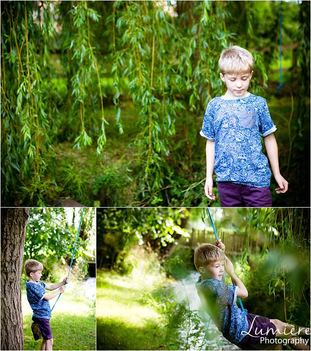 Leicester Family Photographer boy with swing