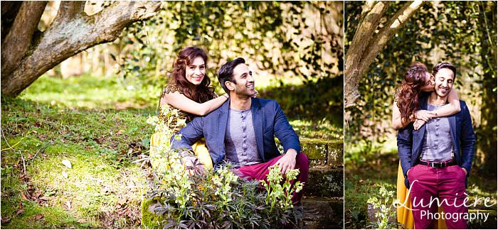 Spring Pre-wedding Photoshoot at Loughborough's Whatton Gardens