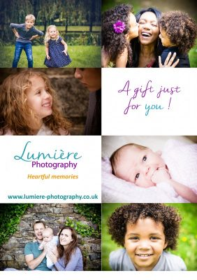 photography gift vouchers - family photoshoot