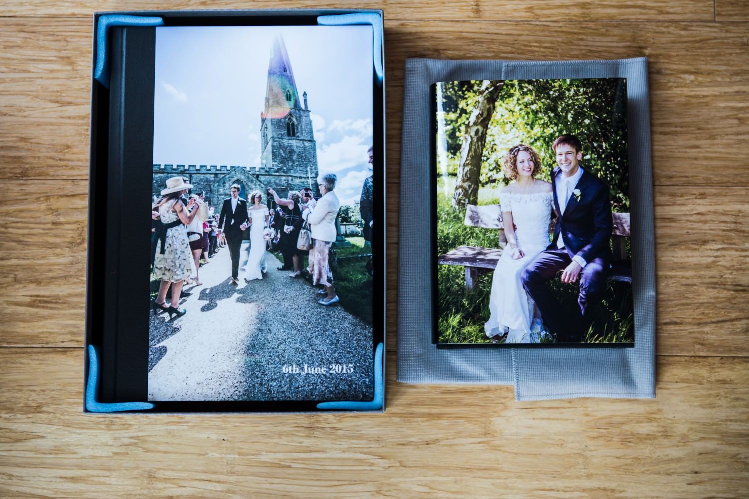 wedding album and parent's copy