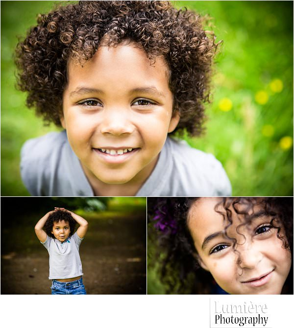 close up photos of children at natural family portraits session in leicester