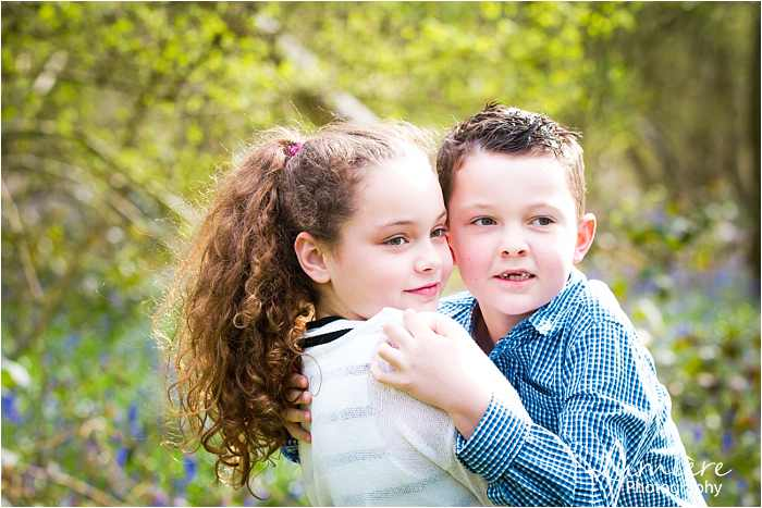 Family photographer in Leicestershire brother and sister love at family photoshoot in loughborough