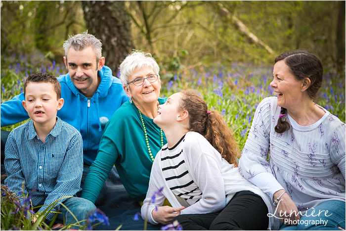 Family photographer in Leicestershire family with grandma at family photoshoot in loughborough