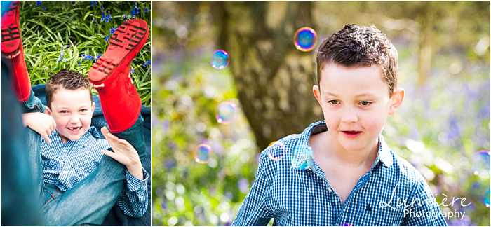 boy playing at family photoshoot in loughborough