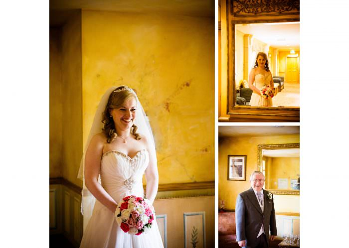 Nailcote hall wedding photographer bride and her father