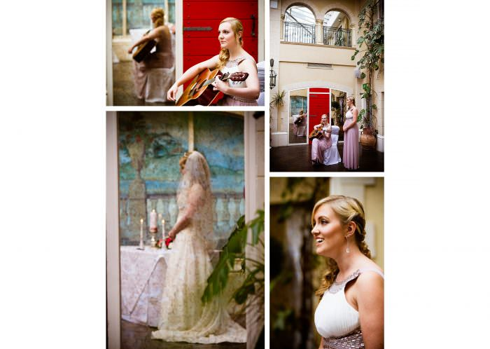 Nailcote hall wedding photographer bridesmaids singing