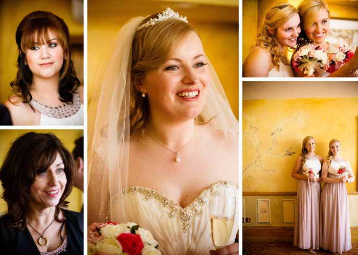 Nailcote hall wedding photographer bride and bridesmaids