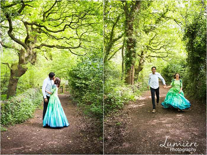pre wedding photography in loughborough couple running