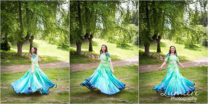 pre-wedding photography in loughborough bride to be dancing