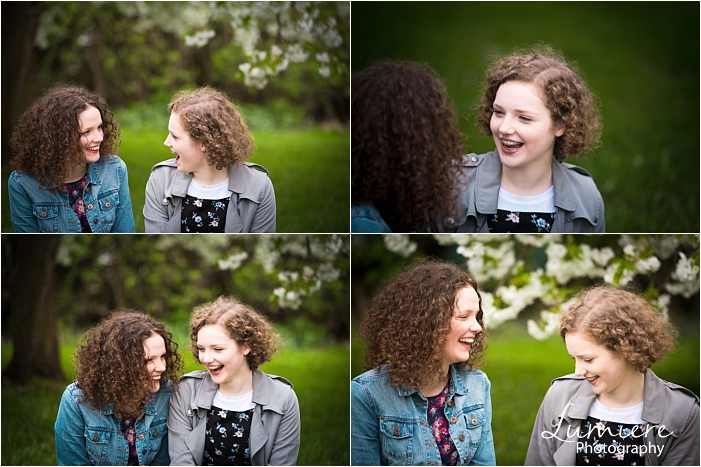 sisters photoshoot in Loughborough chatting