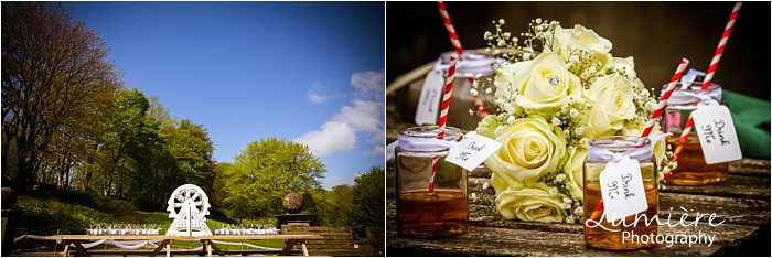 drinks and cakes at Hargate Hall wedding