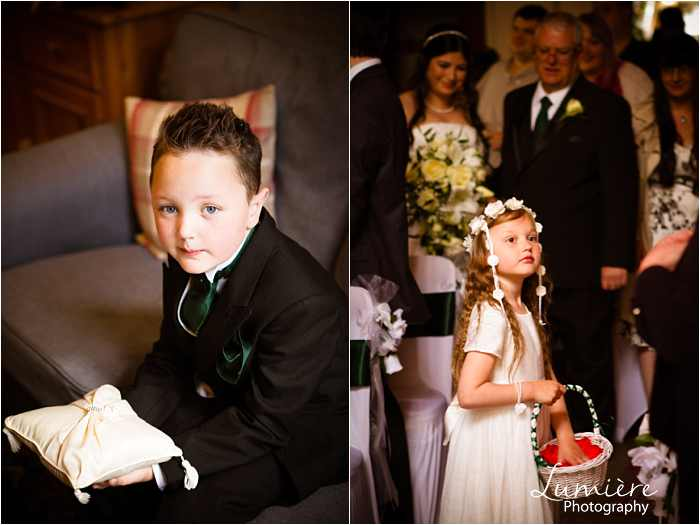 page boy and flower girl at Hargate Hall wedding