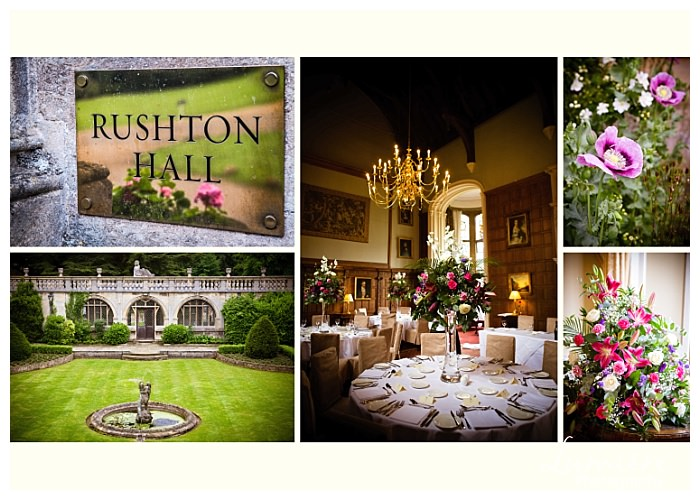 Rushton Hall wedding venue in Northamptonshire