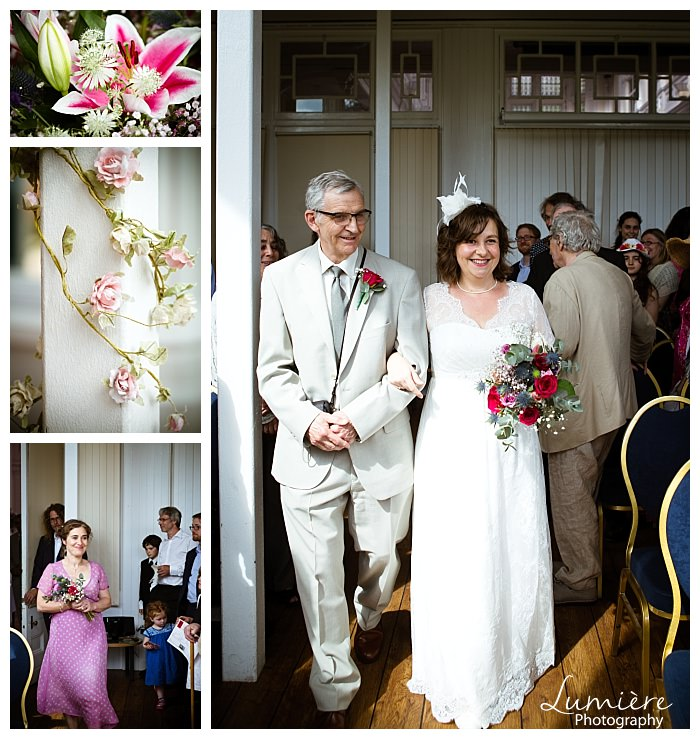 uffculme centre wedding in Birmingham bride and father