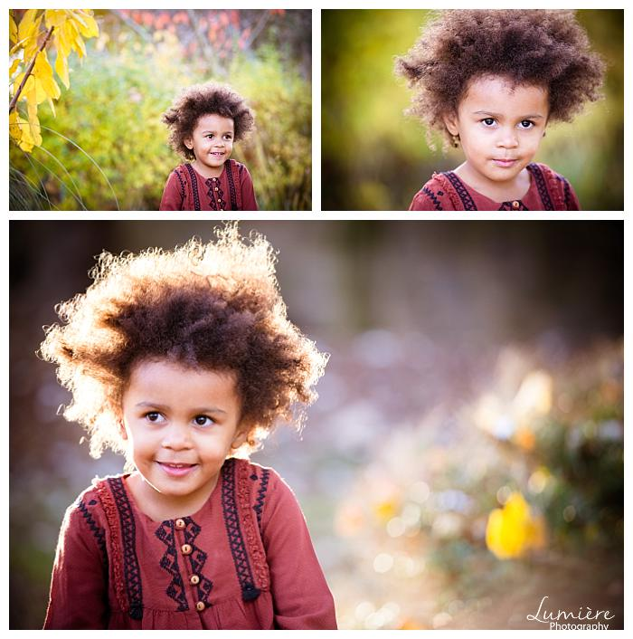 Little girl in a park - natural children photography in autumn