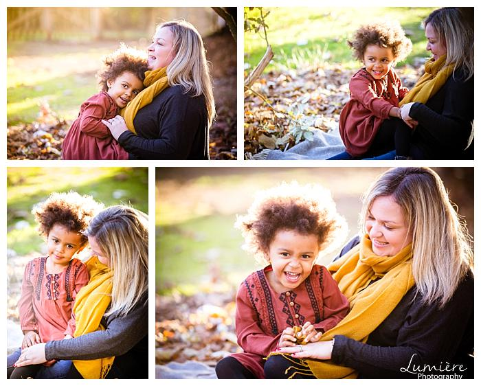 mum and daughter in a park- natural family photography leicester
