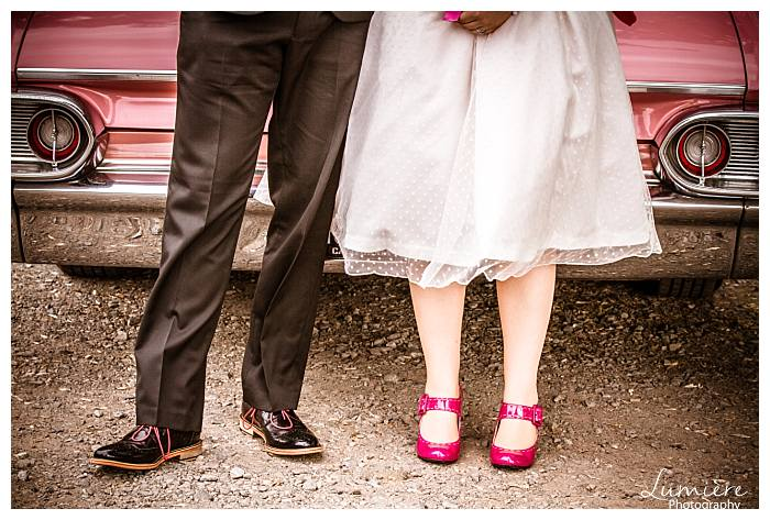 Retro wedding at Loughborough Boat Club, Zouch