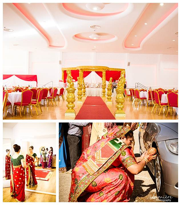Asian wedding photographer at Maher centre Leicester