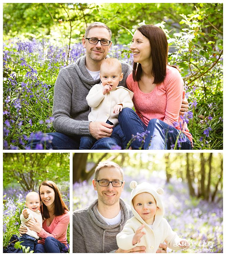bluebells family photoshoot in Leicestershire