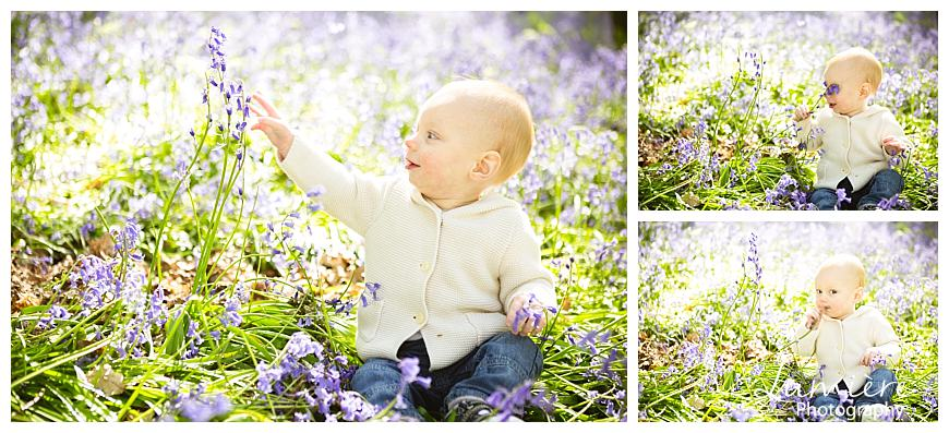 bluebells photoshoot in Leicestershire