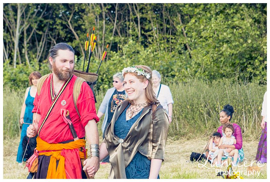 Handfasting a pagan wedding near Loughborough
