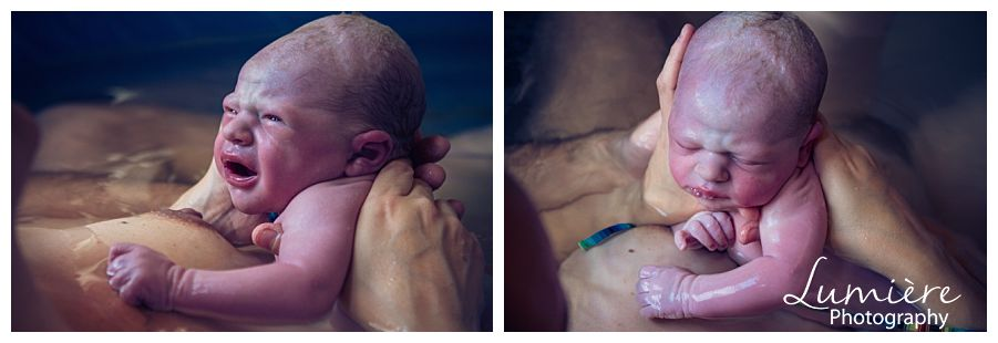 Nottingham Home birth photographer- the baby