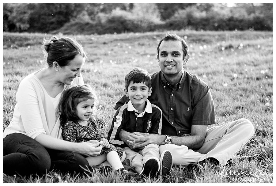 Leicestershire family portraits in black and white
