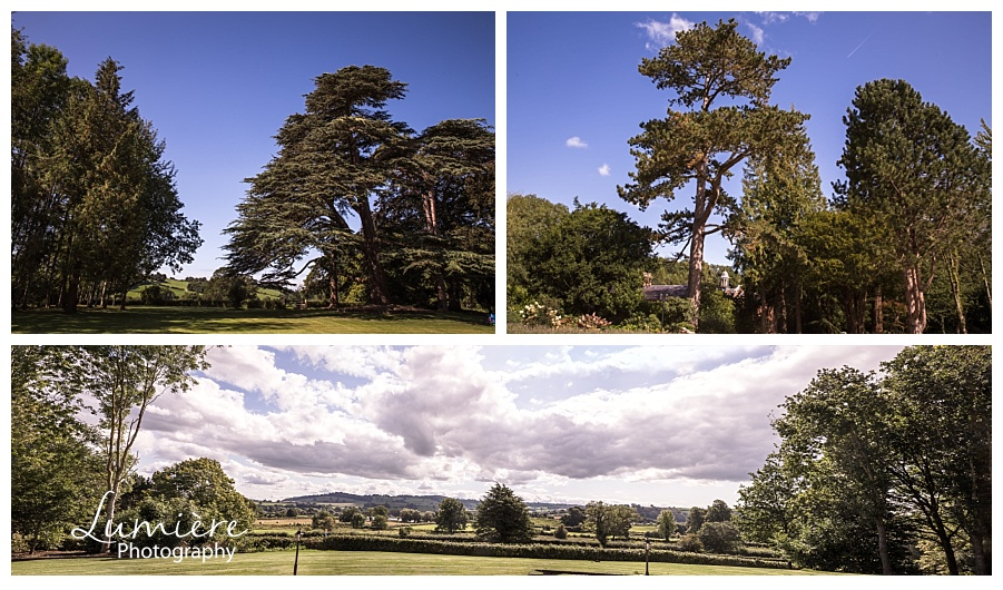 garthmyl hall wedding venue in wales shropshire - the views
