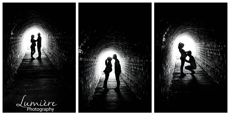 Outdoors maternity photoshoot near Leicester- silhouettes