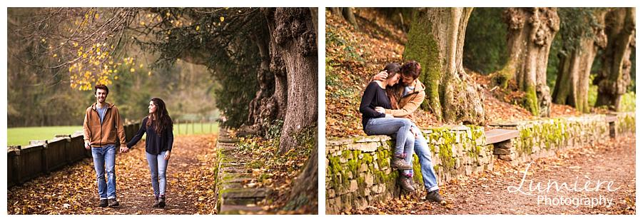 autumn pre wedding photography at Ilham Hall Derbyshire