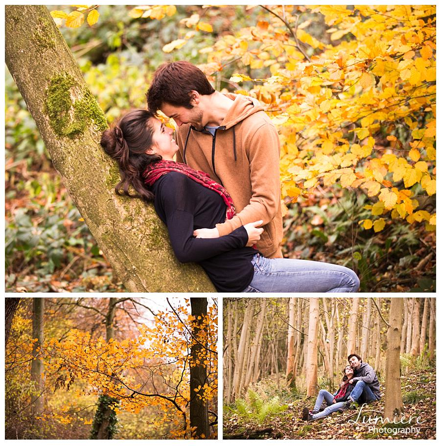 autumn pre wedding photography at Ilam Hall Derbyshire