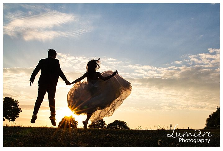Energetic post and pre wedding photoshoot around Loughborough