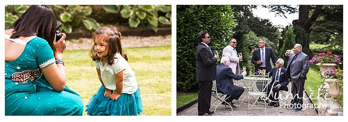Multicultural wedding at Garthmyl Hall relaxing