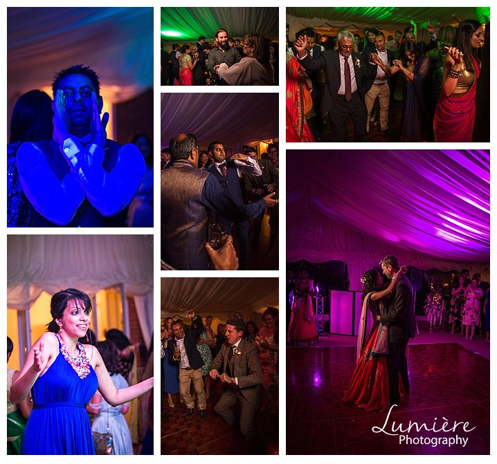 Multicultural wedding at Garthmyl Hall the dancing