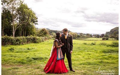Multicultural wedding at Garthmyl Hall
