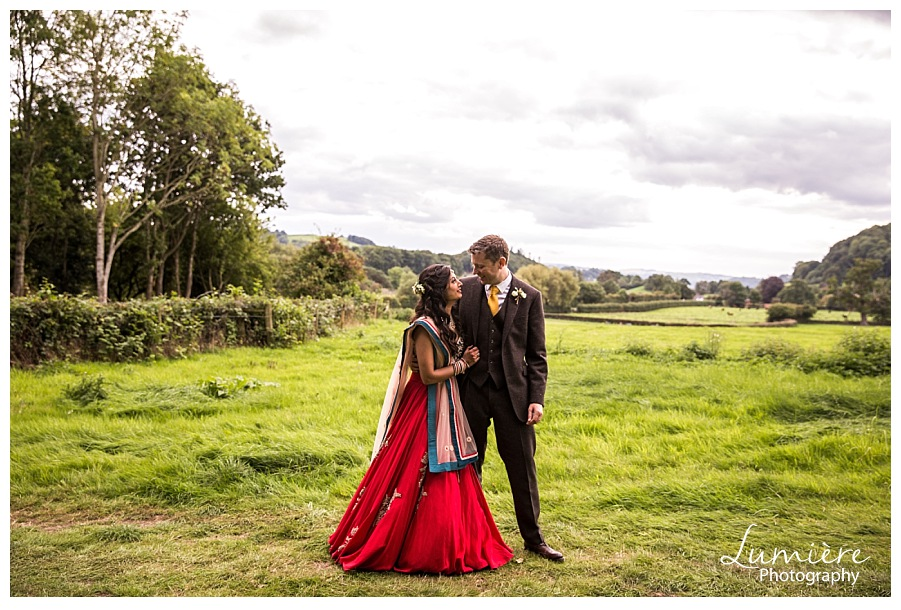 Multicultural wedding at Garthmyl Hall