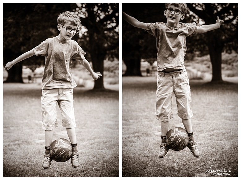 Bradgate Park Leicester family photoshoot playing football