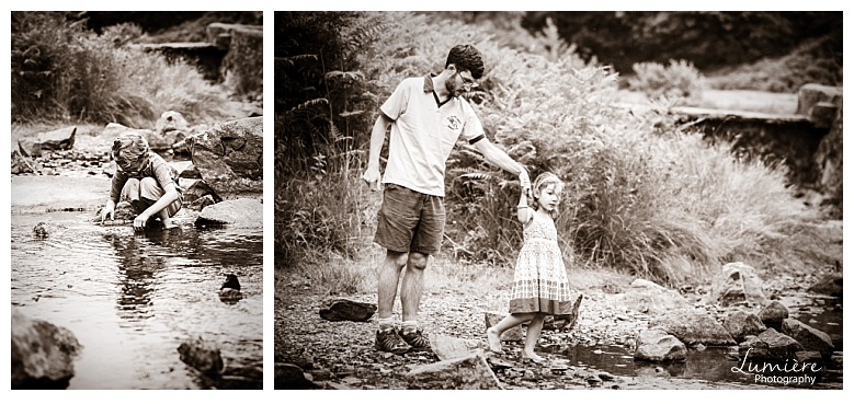Bradgate Park Leicester family photoshoot the river