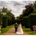 Kelham hall wedding Newark Nottinghamshire, bride and groom in the gardens