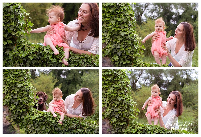 outdoors baby photoshoot Grace Dieu woods