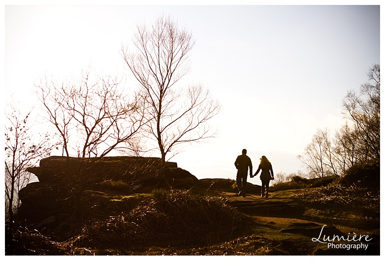 Engagement photoshoot in Yorkshire